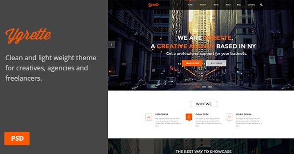 Ygrette   Multi-Purpose Parallax PSD Landing Page   Cleanses, Call ...