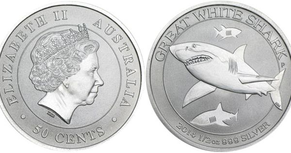 2014 Australian Great White Shark 1 2 Oz Silver Bullion Coins World Mint News Blog Silver Bullion Silver Bullion Coins Coins