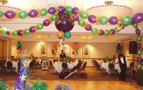 Purple Green Gold balloon garland which look like bead ...