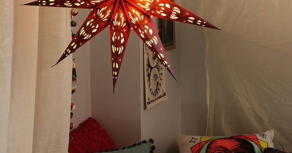Magical Thinking Star Paper Lantern from Urban Outfitters. I love those pillows