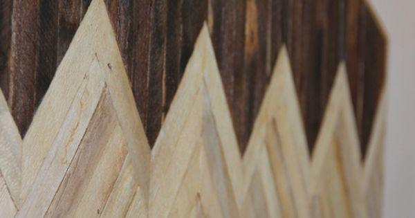 Reclaimed wood chevron headboard!