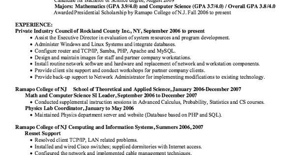 Resume Network Administrator - http\/\/resumesdesign\/resume - ophthalmic technician resume
