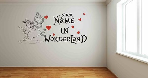 Gentil Alice In Wonderland Wall Decals .
