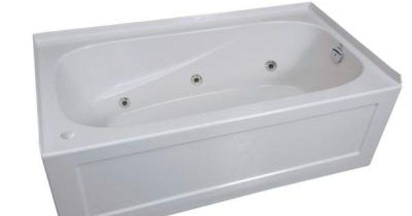Mirolin Tucson 2 Skirted Whirlpool Acrylic Tub Right Hand TAS6634RAW H