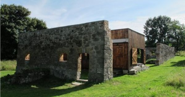 Small House In Czech Republic Recycled From Ruins of Barn. There's a