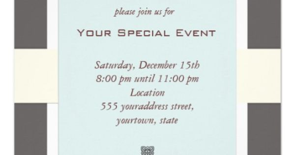Clean and Simple Business Event Invitation - Business Event Invitation