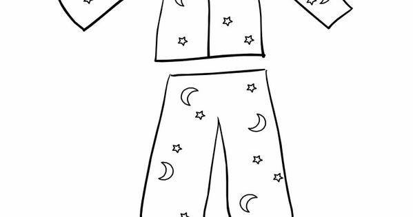 pajama theme coloring pages - photo#20