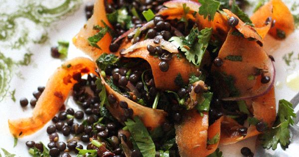 Moroccan Carrot Ribbons and Black Lentils / Sarah Britton