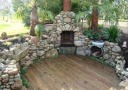 Barbacoa fregadero y le era de piedra outdoor patio for Fregaderos de barro