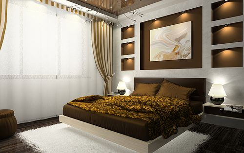Luxurious Bedroom Design with Luxurios Bunk Bed and White Smooth