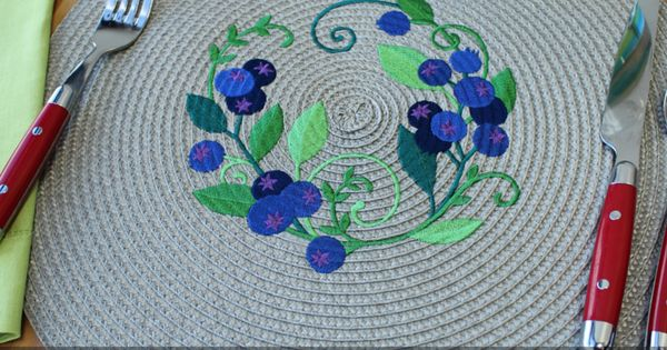 Get tips and tricks for adding machine embroidery to straw