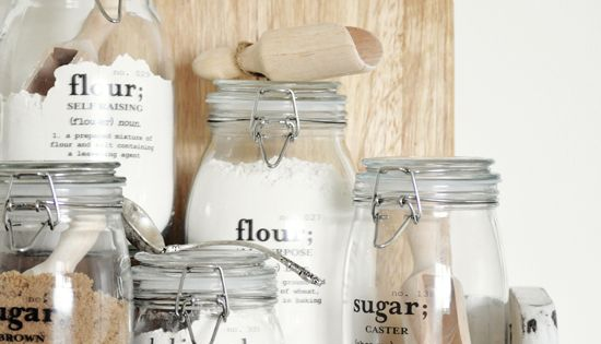 MAGIC Decal Tutorial for kitchen jars with Free Printables!