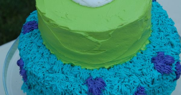 #Monsters-inc-cake.jpg 595×758 pixels Keep it simple Monster Inc DIY birthday cake idea