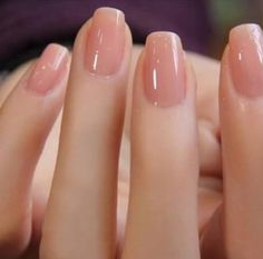 Short Neutral Squoval Nails Nails Trendy Nails
