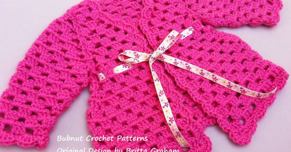 Crochet Baby Jacket Pattern TWO sizes for you to by BBfromOz, $4.00 ...
