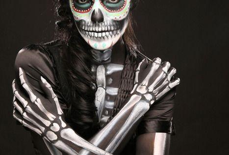 AMAZING dia de los muertos costume/makeup halloween makeup sfx