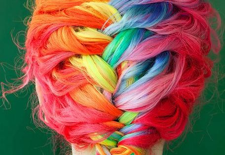 Anyone ever tried rainbow hair? straight inspiration hair cute colour bright pink