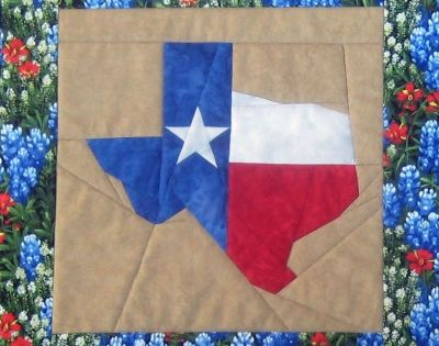 Quilt Kits Texas Theme State Of Texas Picture Piecing