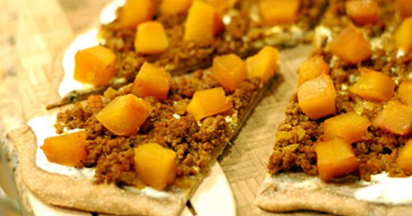 Kaddo Pizza....pumpkin, spicy beef, yogurt mint sauce | Recipes ...