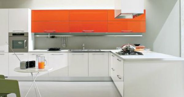 Design Keuken Sale : Keuken met oranje keukenkasten Kleurrijke keukens ...
