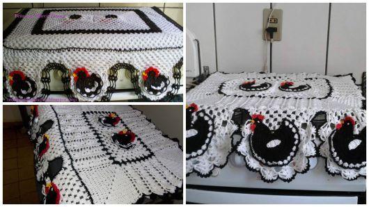 Modelos De Galinha Decoração Cozinha Crochet Kitchen