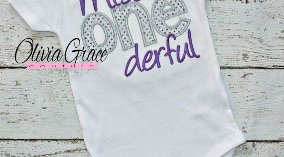 Miss-ONE-derful 1st Birthday onesie