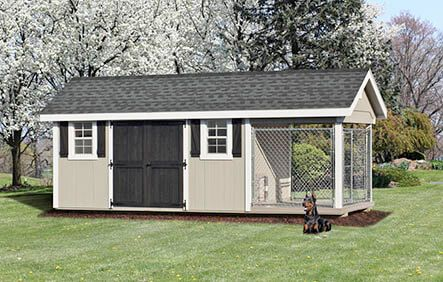 8x20 Shed Kennel Combo Dog House Plans