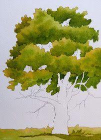 5 WATERCOLOR TECHNIQUES for TREES | Arboles con acuarela, Lápices ...
