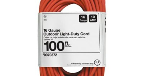 Woods Extension Cords Accessory 44156402 98 4 Ft 10 Amp 125 Volt 1 Outlet 16 Gauge Orange Outdoor Extension Cord Outdoor Extension Cord Cord Extension Cord