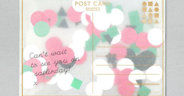 confetti card