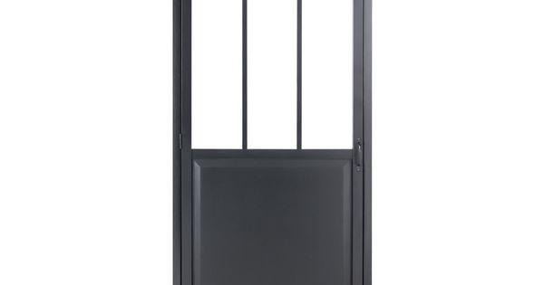 Bloc porte atelier verre clair noir artens x for Bloc porte 70