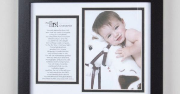 First Grandchild Frame - great gift idea!