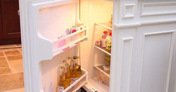 Mini fridge in island- for kids snacks, a beer fridge, or for