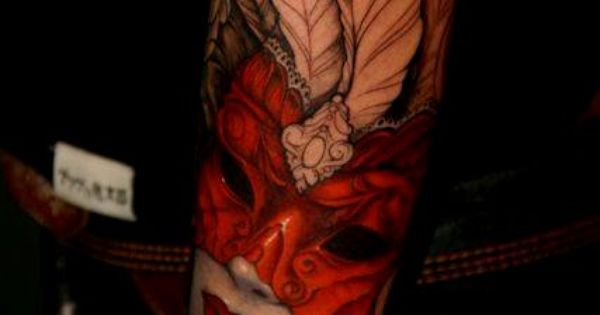 _ venetian mask tattoo _