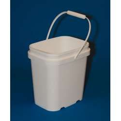 This One Gallon Bucket Is Stackable And Has A Great Snap On Lid That Folds Back Perfect For Carrying Your Ga Plastic Containers Gallon Water Storage