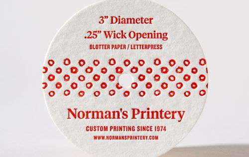 Candle Dust Covers Norman S Printery Candle Dust Cover Custom Candles Candle Labels