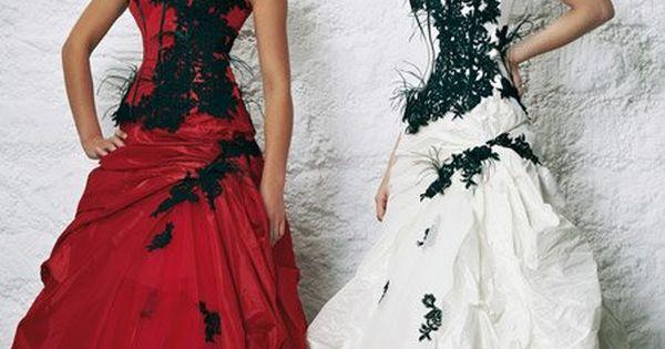 Robe de Mariee Noire et blanche  Belle robe de mariage  Pinterest ...