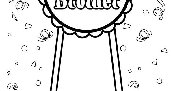 Big Brother Award Coloring Page