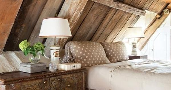 attic room + polka dot bed