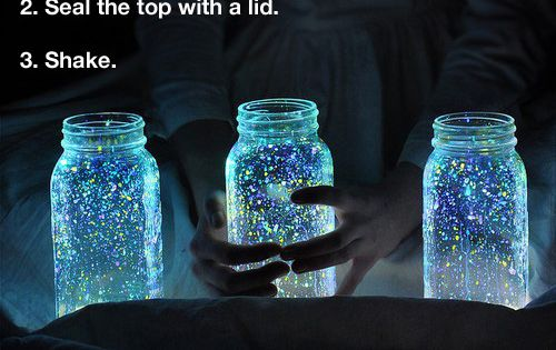 I can't stand how much i love this idea.. of glowing jars