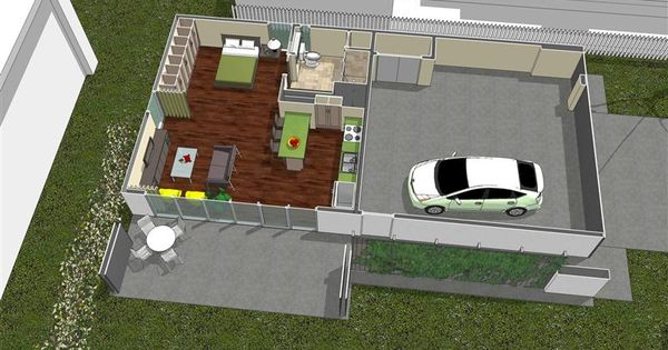 Mother in law suite garage small spaces pinterest for Mother in law suite garage floor plan