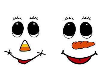 Https Www Etsy Com Market Snowman Face Printable Snowman Faces Face Stencils Snowman Faces