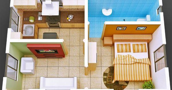 Plano de casa de 30 metros cuadrados nuevo pinterest for Planos de cocinas de 9 metros cuadrados