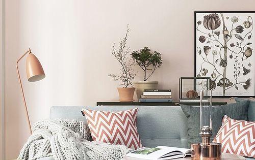 Living room. Knit blanket