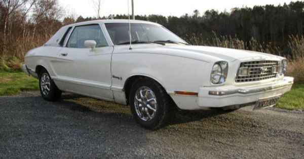1975 Ford Mustang Coupe Mine Was White With A Moon Roof And White Leather Interior Maybe One Day I Will Get Another Mustang Coupe Ford Mustang Coupe Mustang