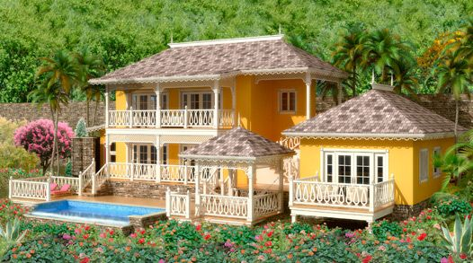 Hillside Mango Tree Imagea Jpg 526 293 Beach House Floor Plans Caribbean Homes Mediterranean Style House Plans