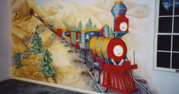 Train Mural Jordan Wouldn T Go To Sleep If It Was On His
