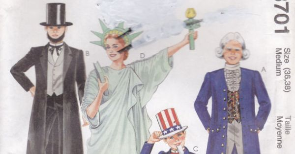 Amusing sewing pattern of adult statue of liberty consider, that