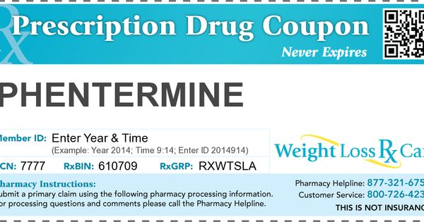Phentermine discount coupon