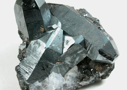 Hematite - One of the most grounding of all stones . Condenses